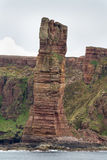 Old Man of Hoy, a famous seastack in the Orkney Islands, Scotlan Royalty Free Stock Photo