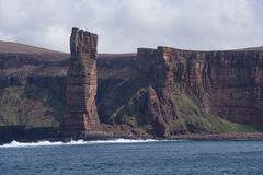 The Old Man of Hoy from the Hamnavoe ferry Royalty Free Stock Photography