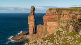 The Old Man of Hoy, sea stack on the island of Hoy Stock Image