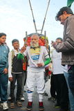 Old Man at Hyderabad 10K Run Event Stock Images