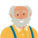 Old man icon vector. Man icon illustration. Face of old man icon. Face of elder people icons cartoon style. Stock Photos