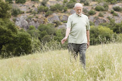 Old Man In Grass Stock Photography
