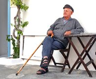 Free Old Man In Greek Village Royalty Free Stock Photography - 217275977