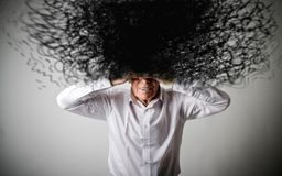Free Old Man In White And Chaos. Royalty Free Stock Photo - 111342685