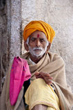 Old man from India praying Royalty Free Stock Images