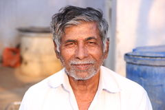Old Man. Indian Senior Old Man With Smile Face stock photo