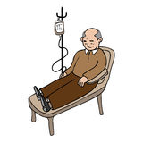 Old man infusion Stock Photos