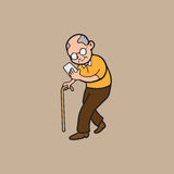 Old man internet addicted Royalty Free Stock Photos