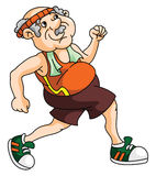 Old Man Jogging Royalty Free Stock Photography