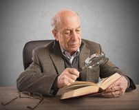 Old man knowledge and culture Royalty Free Stock Images