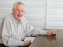 Old man laughing royalty free stock photography