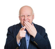 Old man laughing at someone Stock Photos