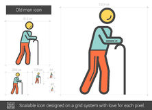 Old man line icon. Stock Image