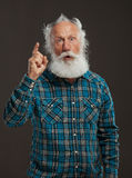 Old man with a long beard with big smile Royalty Free Stock Photography