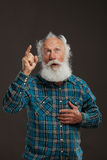 Old man with a long beard with big smile Stock Images