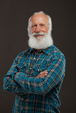 Old man with a long beard with big smile Royalty Free Stock Image