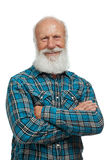 Old man with a long beard Stock Photography