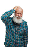 Old man with a long beard Royalty Free Stock Photos