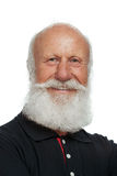 Old man with a long beard. On a white background royalty free stock photos