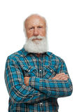 Old man with a long beard Royalty Free Stock Photography