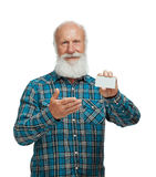 Old man with a long beard Stock Image