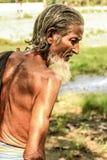 Old Man Look. Old man walking ahead royalty free stock image