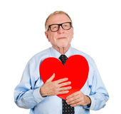 Old man in love Royalty Free Stock Photo