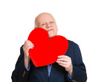 Old man in love Stock Image