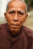 Old man in Mandalay Stock Photography