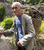 Old Man Of Miao Minority Stock Photo