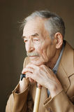 Old man with moustaches Stock Photography
