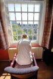 Old man in nursing home Royalty Free Stock Image