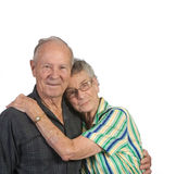 Old man and old woman together Stock Photo