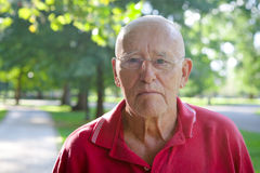 Old Man Outside Royalty Free Stock Photography