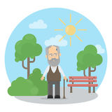Old man outside. Stock Photos