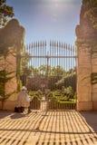 Old man paints, Parc Laberit d'horta, barcelona Royalty Free Stock Photography