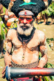 Old man in Papua New Guinea Royalty Free Stock Image