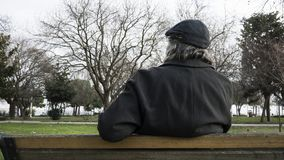 Old man in the park royalty free stock photo