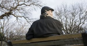 Old man in the park royalty free stock images