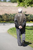 Old man in the park Royalty Free Stock Image