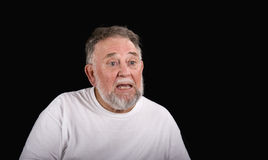 Old Man Perplexed Royalty Free Stock Photography