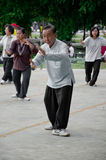 An old man play Taichi Stock Photography