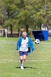 Old man playing football Royalty Free Stock Photos