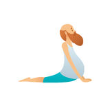 Old man practicing yoga Royalty Free Stock Images