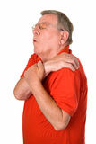 Old man with rheumatic pain Stock Photo