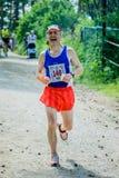 Old man run Royalty Free Stock Photography