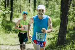 Old man run Royalty Free Stock Photos