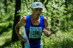 Old man run Royalty Free Stock Photo