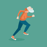 Old man running Royalty Free Stock Photography