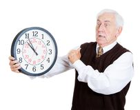 Old man in rush Stock Photography